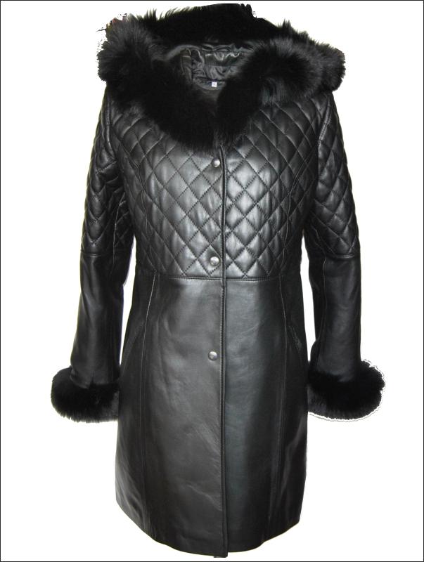 64401a2bbc1 Δερματινο γυναικειο παλτο με Black Soft Nappa J 28 και επενδυση ...